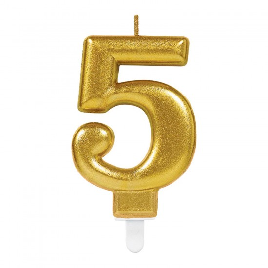 Κερί Νούμερο 5 χρυσό