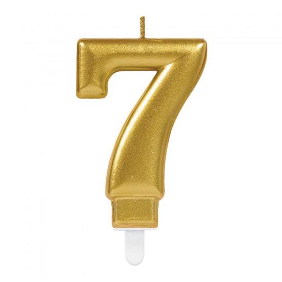 Κερί Νούμερο 7 χρυσό