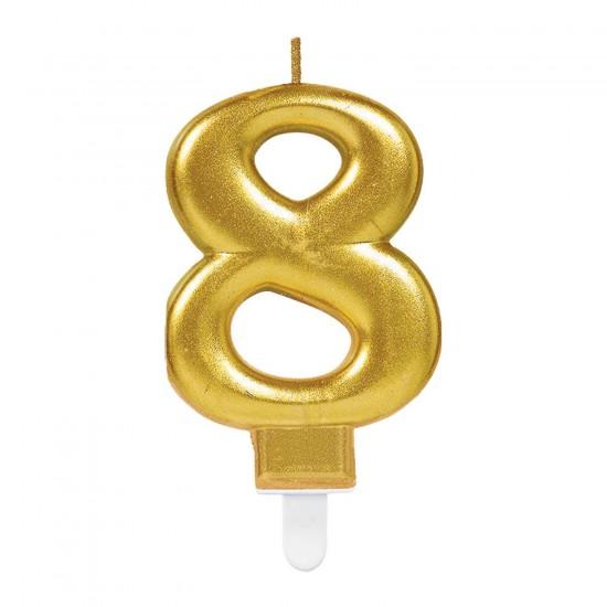 Κερί Νούμερο 8 χρυσό