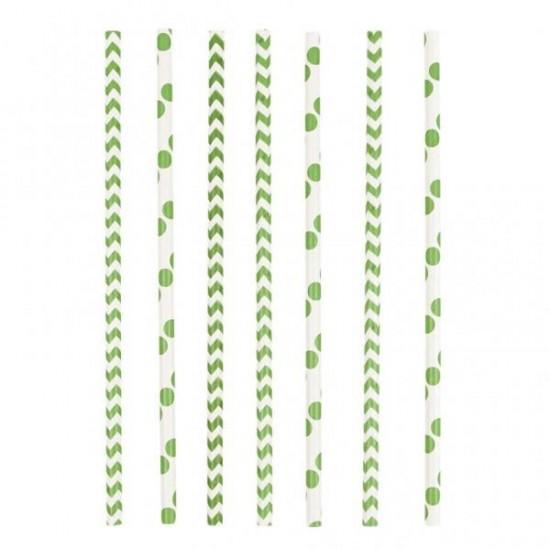 Καλαμάκια χάρτινα Πράσινα
