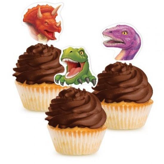 """Dino Blast"" Cupcake Διακοσμητικά"