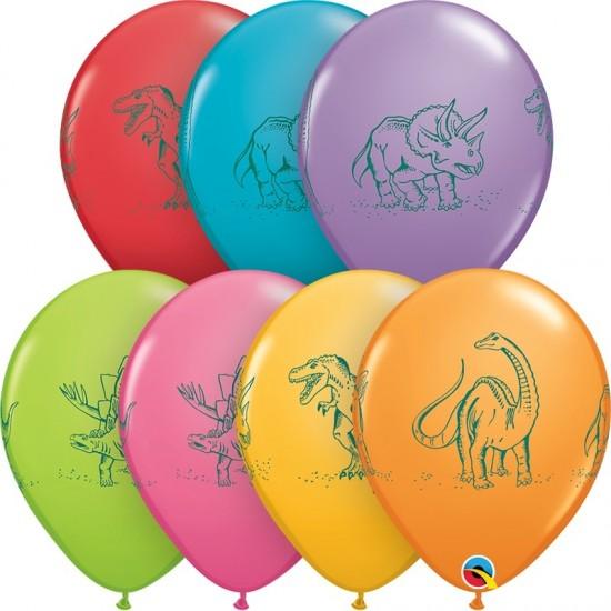"""Μπαλόνι 11"""" latex Δεινόσαυροι σε δράση"""