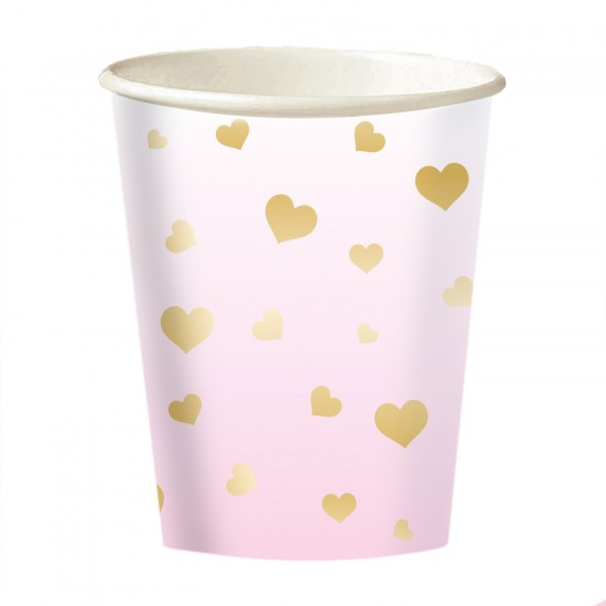 """1st Birthday Pink Ombre"" Ποτήρι"
