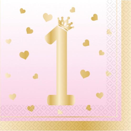"""1st Birthday Pink Ombre"" Χαρτοπετσέτα"