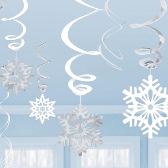 """Frozen"" Διακοσμητικά οροφής χιονονιφάδες"