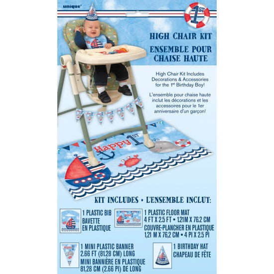 """Nautical 1st Bday"" Διακοσμητικό καρέκλας"