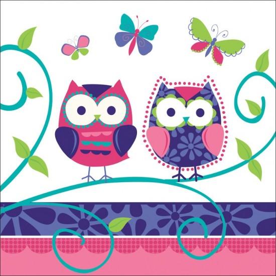 """Owl Pal Birthday"" Χαρτοπετσέτα"