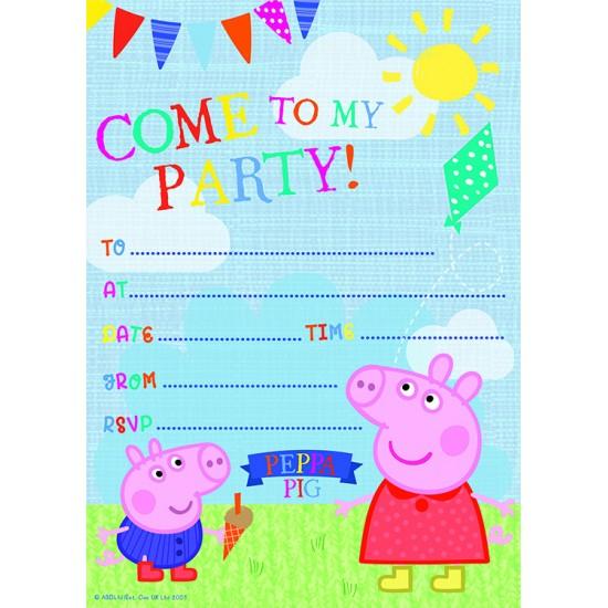 """""""Peppa Pig"""" Προσκλήσεις"""