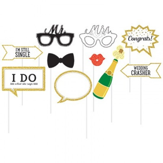 """Photo Booth Props"" Wedding"