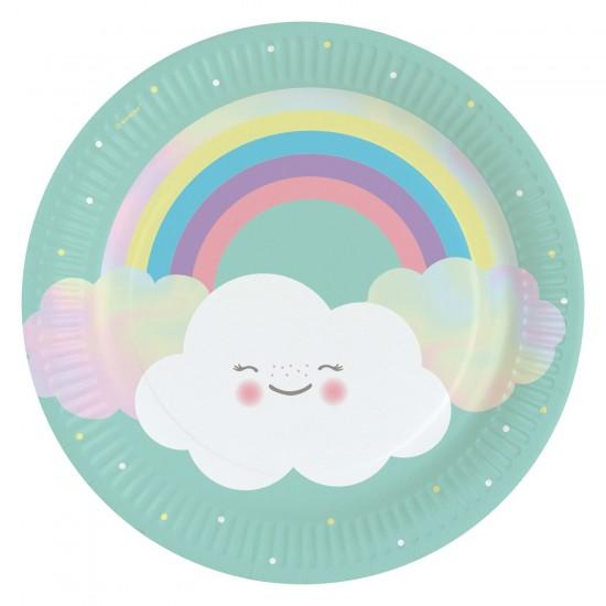 """Rainbow and Cloud"" Πιάτο Φαγητού"