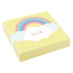 """Rainbow and Cloud"" Χαρτοπετσέτα γλυκού"