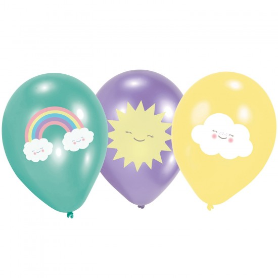 """Rainbow and Cloud"" Μπαλόνια λάτεξ"