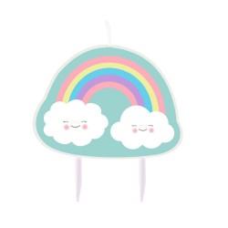 """Rainbow and Cloud"" Κεράκι"