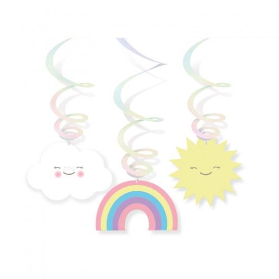 """Rainbow and Cloud"" Κρεμαστά Διακοσμητικά"