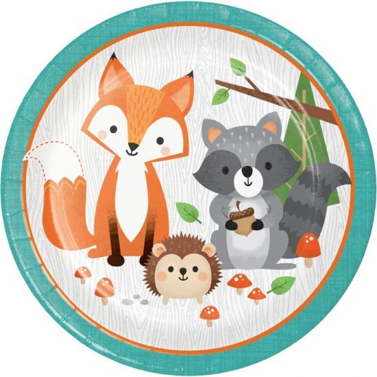 """Wild One Woodland Animals"" Πιάτο Φαγητού"