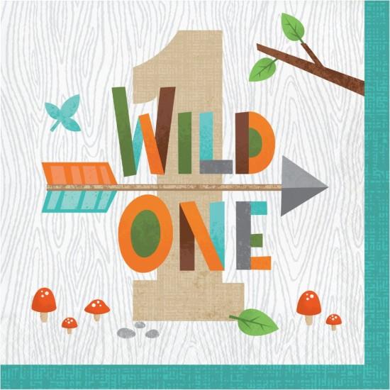 """""""Wild One Woodland Animals"""" Πετσέτα Φαγητού """"Wild One"""""""