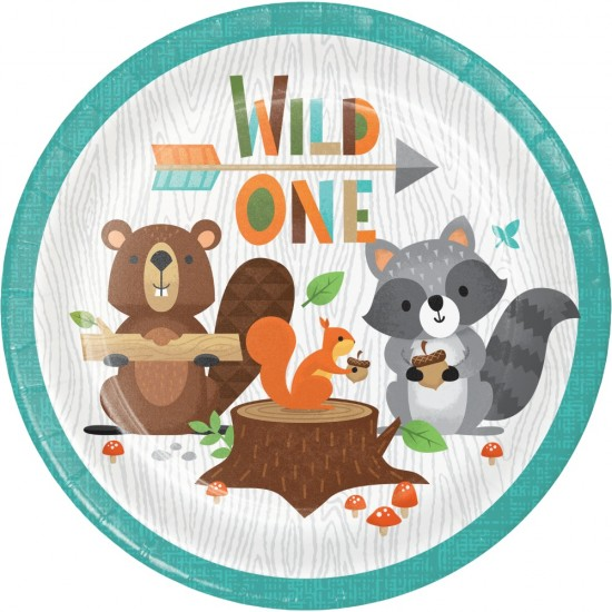 """Wild One Woodland Animals"" Πιάτο Γλυκού ""Wild One"""