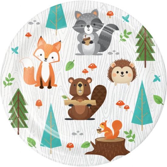 """Wild One Woodland Animals"" Πιάτο Γλυκού"