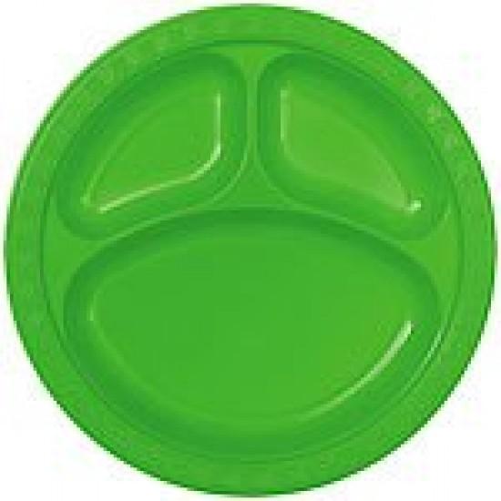 """Lime Green"" 10"" Πιάτο με χωρίσματα"