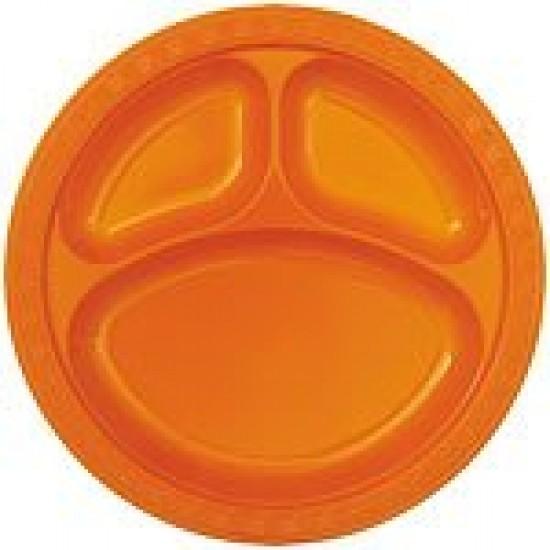 """Orange"" 10"" Πιάτο με χωρίσματα"