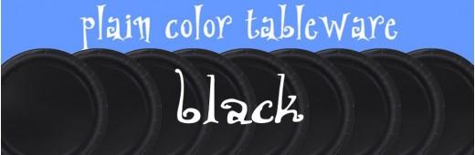 """Paper tableware"" Black"