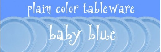 """Plastic tableware"" Baby Blue"