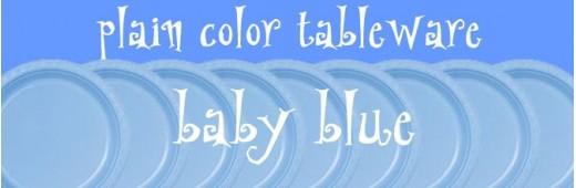 """Paper tableware"" Powder Blue"