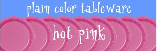 """Plastic tableware"" Hot Pink"