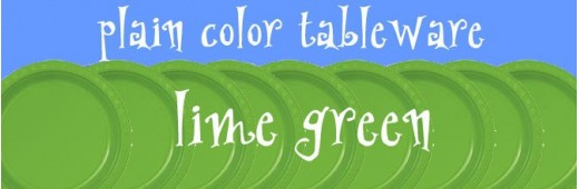 """Plastic tableware"" Lime Green"
