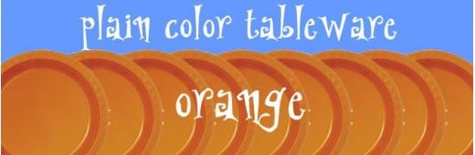 """Paper tableware"" Orange"