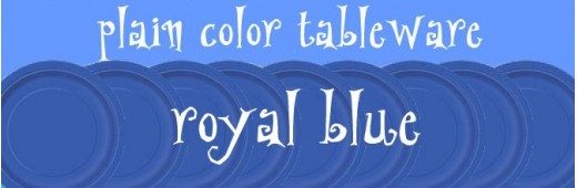 """Paper tableware"" Royal Blue"