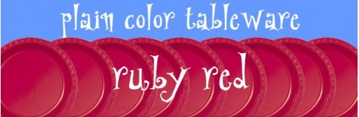 """Plastic tableware"" Ruby Red"