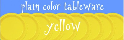 """Plastic tableware"" Yellow"